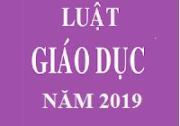 Văn bản Luật số: 43/2019/QH14 - (Luật giáo dục 2019)