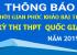 Thông báo thời gian phúc khảo bài thi -  Kỳ thi THPT quốc gia  năm 2019