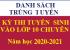 Danh sách trúng tuyển - kỳ thi vào lớp 10 Trường THPT chuyên Lê Thánh Tông, Năm học 2020-2021
