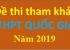 Đề tham khảo thi THPT Quốc Gia năm 2019