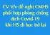 CV V/v Đề nghị CMHS phối hợp phòng chống dịch Covid-19 khi HS đi học trở lại