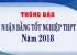 Thông báo nhận bằng tốt nghiệp THPT năm 2018