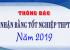 Thông báo nhận bằng tốt nghiệp THPT năm 2019